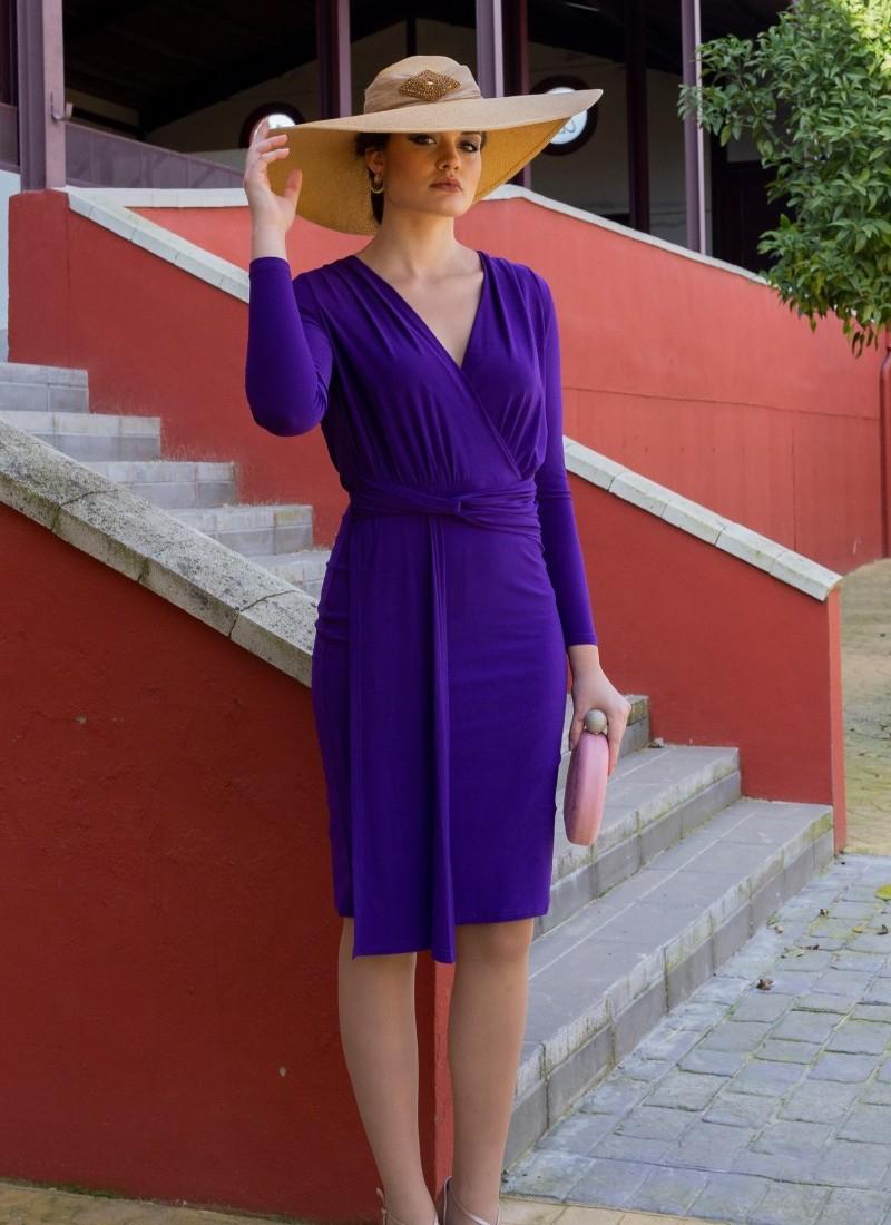 Vestido Many | Vestido Morado Boda | EL DESVÁN DEL REGALO